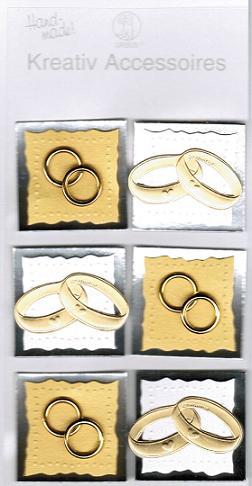 3d Sticker Hochzeitsringe Gold 6 Stuck 3d Sticker Hochzeit
