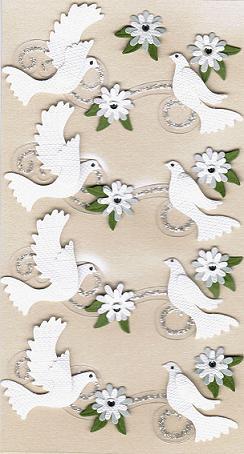 Artwork 3d Sticker Weisse Tauben 4 Paar 3d Sticker Hochzeit