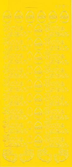 Ziersticker Reliefsticker Peel Off/'s gold Konturensticker kleine Zahlen