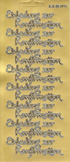 Konturensticker Gold Einladung Zur Konfirmation Modern, Sticker Gold,  Silber Und Weiss Grosse Auswahl Für Die Konfirmation Und Kommunion, Sticker  Schriften ...