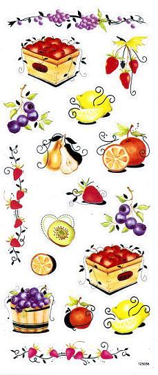 Sticker bunt transparent, diverse Früchte | Sonstige Sticker ...