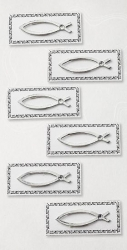 Fisch silber Kommunikation Konfirmation Artoz Artwork 3D-Sticker