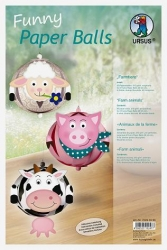Funny Paper Balls, Farmtiere Bastelpackung