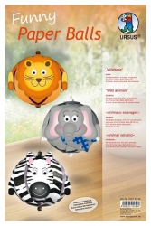 Funny Paper Balls, Wildtiere Bastelpackung