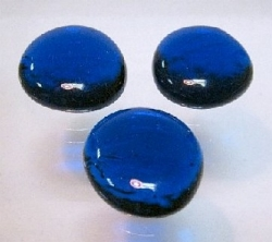 Glasnuggets blau, 30 mm, Kilo