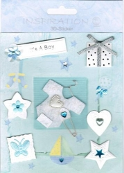 Inspiration 3D Sticker Set Baby Boy