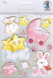 Inspiration 3D Sticker Set Baby Girl II