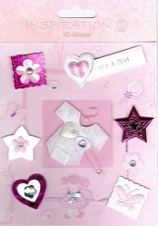 Inspiration 3D Sticker Set Baby Girl