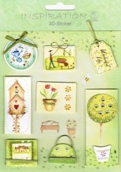 Inspiration 3D Sticker Set Garten
