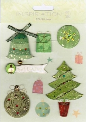 Inspiration 3D Sticker Set Weihnachten II
