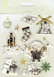 Inspiration 3D Sticker Set Weihnachten III