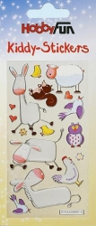 Kiddy Stickers bunt, Tiere  IV