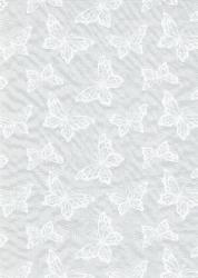 deko stoff organza schmetterlinge t rkis silber 290 mm 1m vliese und dekostoffe. Black Bedroom Furniture Sets. Home Design Ideas