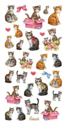 Softy Sticker, bunt, Katzen
