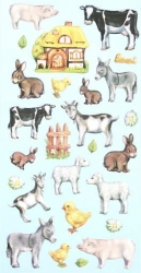 Softy Sticker, bunt, Tiere