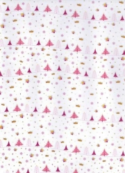 Transparentpapier Magic Christmas, pink, 115 g, DIN A 4, 1 Blatt