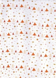 Transparentpapier Magic Christmas, rot orange, 115 g, DIN A 4, 1 Blatt